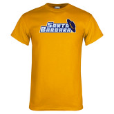 Gold T Shirt-Santa Barbara with Hat