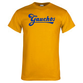 Gold T Shirt-Gauchos Script