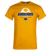 Gold T Shirt-Gauchos Soccer Stacked
