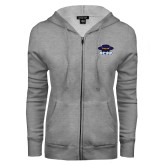 ENZA Ladies Grey Fleece Full Zip Hoodie-Primary