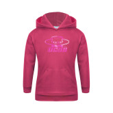 Youth Raspberry Fleece Hoodie-Primary Foil