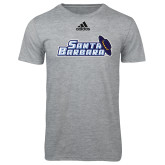 Adidas Sport Grey Logo T Shirt-Santa Barbara with Hat