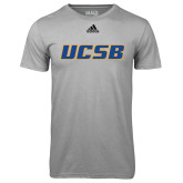 Adidas Climalite Sport Grey Ultimate Performance Tee-UCSB