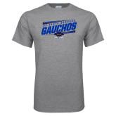 Grey T Shirt-Slanted Gauchos Stencil