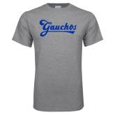 Grey T Shirt-Gauchos Script