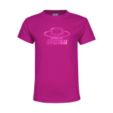 Youth Fuchsia T Shirt-Primary Foil