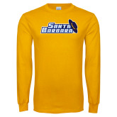 Gold Long Sleeve T Shirt-Santa Barbara with Hat