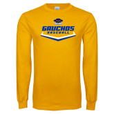 Gold Long Sleeve T Shirt-Gauchos Baseball Plate