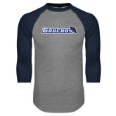 Grey/Navy Raglan Baseball T Shirt-Gauchos with Hat