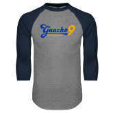 Grey/Navy Raglan Baseball T Shirt-Gauchos 9