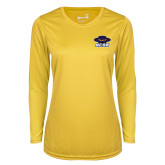 Ladies Syntrel Performance Gold Longsleeve Shirt-Primary
