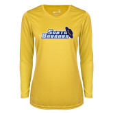 Ladies Syntrel Performance Gold Longsleeve Shirt-Santa Barbara with Hat
