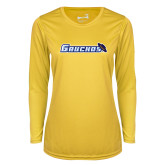 Ladies Syntrel Performance Gold Longsleeve Shirt-Gauchos with Hat