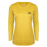 Ladies Syntrel Performance Gold Longsleeve Shirt-Gaucho Fund