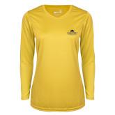 Ladies Syntrel Performance Gold Longsleeve Shirt-Gaucho Fund