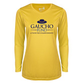 Ladies Syntrel Performance Gold Longsleeve Shirt-Gaucho Fund - A Fund For Champions