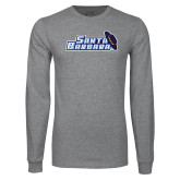 Grey Long Sleeve T Shirt-Santa Barbara with Hat