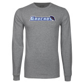 Grey Long Sleeve T Shirt-Gauchos with Hat