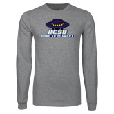 Grey Long Sleeve T Shirt-Dare to be Great