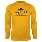 Performance Gold Longsleeve Shirt-Gaucho Fund - A Fund For Champions