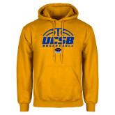 Gold Fleece Hoodie-UCSB Basketball Half Ball