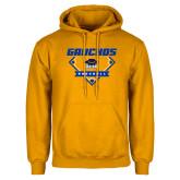 Gold Fleece Hoodie-Gauchos Baseball Diamond