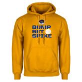 Gold Fleece Hoodie-Bump Set Spike Volleyball