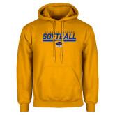 Gold Fleece Hoodie-Softball Stencil