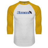 White/Gold Raglan Baseball T Shirt-Gauchos with Hat