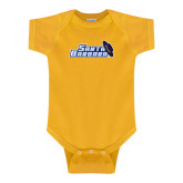 Gold Infant Onesie-Santa Barbara with Hat
