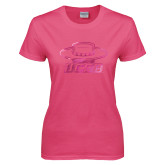 Ladies Fuchsia T Shirt-Primary Foil