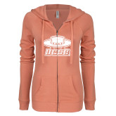 ENZA Ladies Coral Light Weight Fleece Full Zip Hoodie-Primary