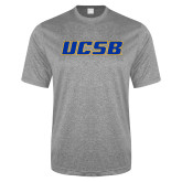 Performance Grey Heather Contender Tee-UCSB