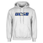 White Fleece Hoodie-UCSB