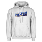 White Fleece Hoodie-2017 Womens Cross Country Champions