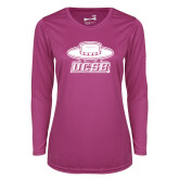 Ladies Syntrel Performance Raspberry Longsleeve Shirt-Primary