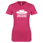 Ladies SoftStyle Junior Fitted Fuchsia Tee-Primary