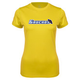 Ladies Syntrel Performance Gold Tee-Gauchos with Hat
