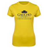 Ladies Syntrel Performance Gold Tee-Gaucho Fund - A Fund For Champions