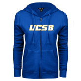 ENZA Ladies Royal Fleece Full Zip Hoodie-UCSB