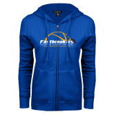 ENZA Ladies Royal Fleece Full Zip Hoodie-Fastbreakers Ticket and Legacy Holders