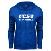 ENZA Ladies Royal Fleece Full Zip Hoodie-Softball