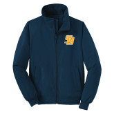 Navy Charger Jacket-Interlocking SB