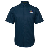 Navy Twill Button Down Short Sleeve-Primary