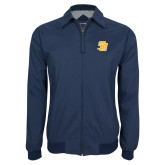 Navy Players Jacket-Interlocking SB