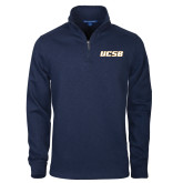 Navy Slub Fleece 1/4 Zip Pullover-UCSB