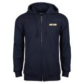 Navy Fleece Full Zip Hoodie-UCSB