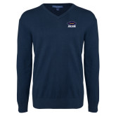 Classic Mens V Neck Navy Sweater-Primary