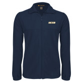 Fleece Full Zip Navy Jacket-UCSB