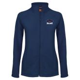 Ladies Fleece Full Zip Navy Jacket-Primary